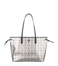 Mcm Medium Reversible Shopper Female Silver