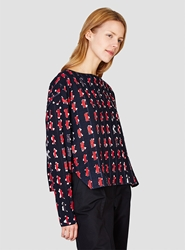 Rachel Comey Barter Top Black And Pink Print