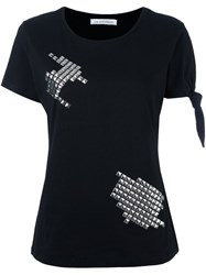 J.W.Anderson Silver Tone Studded T Shirt Black