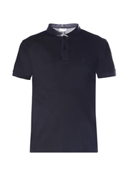 Saint Laurent Leather Collar Polo Shirt