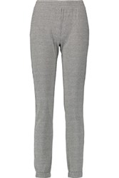 Majestic Houndstooth Cotton Cashmere And Silk Blend Slim Leg Pants Dark Gray