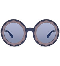 Markus Lupfer Ml11 Oversized Round Frame Sunglasses Blue And Pink
