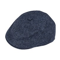 Dents Mens Driver Cap In Abraham Moon Tweed Denim