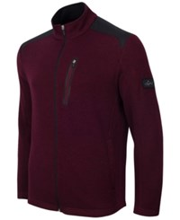 Greg Norman For Tasso Elba Men's Big And Tall Fleece Jacket Only At Macy's Port