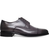 Tom Ford Wessex Leather Derby Shoes Grey