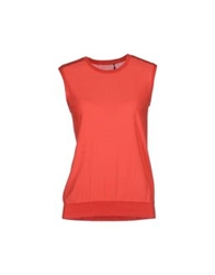 Theyskens' Theory Sleeveless Sweaters Red