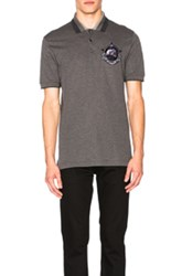 Givenchy Embroidered Polo In Gray