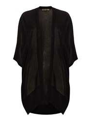 Biba Longline Throw On Sparkle Cardigan Black