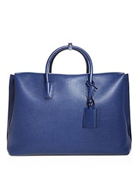 Mcm Maxim East West Tote Navy Blue