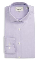 Ted Baker Men's Big And Tall London 'Baruch' Trim Fit Texture Dress Shirt Purple