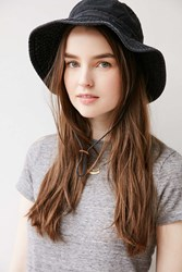 Urban Outfitters Washed Canvas Fishing Bucket Hat Black