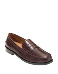 Cole Haan Pinch Friday Leather Moccasins Brown
