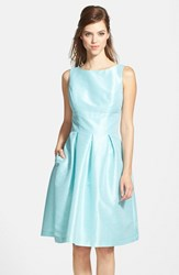 Women's Alfred Sung Dupioni Fit And Flare Dress Seaside