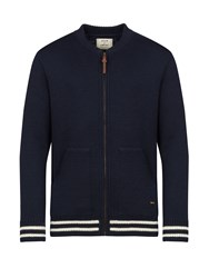 Realm And Empire Made In England Baseball Zip Cardigan Navy