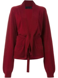 Haider Ackermann Billowing Sleeves Cardigan Red