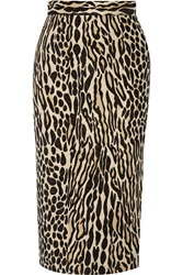 By Malene Birger Algras Leopard Jacquard Pencil Skirt