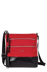 Lodis 'Wanda' Nylon And Leather Crossbody Bag Red