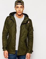 Fly 53 Parka Jacket With Hood Green