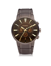 Fossil Others Brown Stainless Steel Men's Cronograph Watch