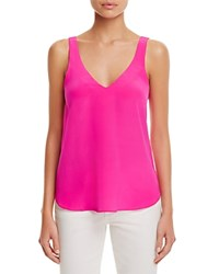 Amanda Uprichard Adrienne Silk Tank Hot Pink