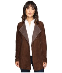 Stetson Suede Long Jacket Brown Women's Coat
