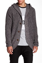 Barney Cools Hooded Cardigan Gray