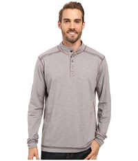 Ecoths Max Pullover Frost Grey Men's Long Sleeve Pullover Gray