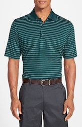 Men's Bobby Jones 'Xh20 Pencil Stripe' Regular Fit Four Way Stretch Golf Polo Pine