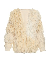 Adam By Adam Lippes Long Sleeved Fringed Bomber Jacket