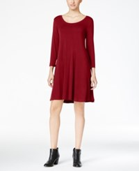 Styleandco. Style Co. Petite Swing Dress Only At Macy's New Red Amore
