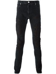 Road To Awe Skinny Fit Embroidered Jeans Black