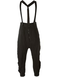 Lost And Found Suspender Trousers Black