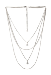 Forever 21 Rhinestone Layered Chain Necklace