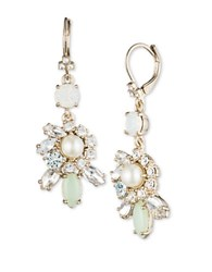 Marchesa 6 7Mm Simulated Pearl Cluster Drop Earrings White