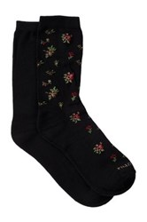 Shimera Pillow Sole Crew Socks Pack Of 2 Black