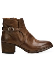 Officine Creative Buckled Ankle Boots Brown