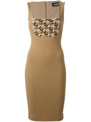 Dsquared2 Sequin Embroidery Dress Brown