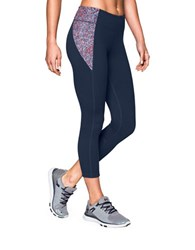 Under Armour Fitted Capri Leggings With Printed Patch Navy