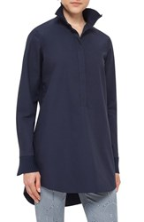 Akris Punto Women's Pleated Collar Cotton Tunic