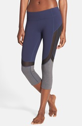 Alo Yoga 'Curvature' Mesh Inset Capri Leggings