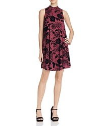 Philosophy Floral Print Swing Dress Compare At 98 Wine Black