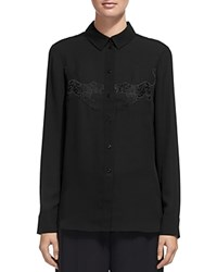 Whistles Tiger Embroidered Shirt Black