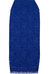 Adam By Adam Lippes Cotton Blend Lace Midi Skirt Blue