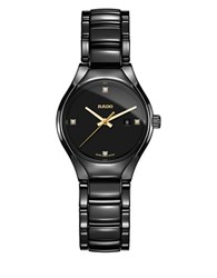 Rado True Diamonds Round Analog Watch Black