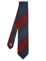 Dunhill Striped Wool Tie Red Multi