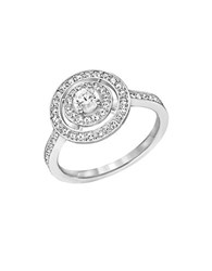 Swarovski Attract Double Circle Pave Ring Silver