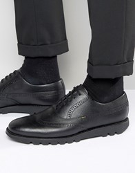 Kickers Kymbo Leather Oxford Brogue Shoes Black