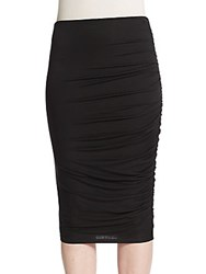 Alice Olivia Draped Pencil Skirt Black