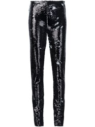 Jeremy Scott Sequin Trousers Black