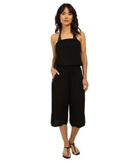 Seafolly Beach Gypsy Howzat Jumpsuit Cover Up Black Women's Jumpsuit And Rompers One Piece